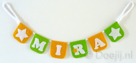 Naamslinger mini voor Mira, Ster