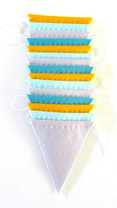 Vlaggenlijn, Geel/blauw