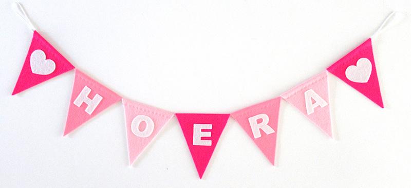 Vlaggenlijn, Roze, HOERA