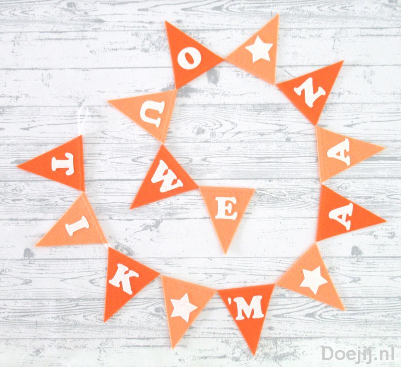 Vlaggenlijn, Oranje tinten, TIK 'M AAN OUWE
