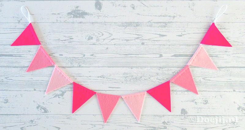 Vlaggenlijn MINI, Roze tinten