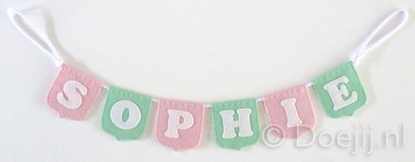 Naamslinger mini voor Sophie