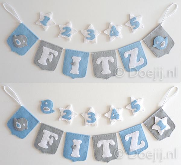 Naamslinger met leeftijden voor Fitz