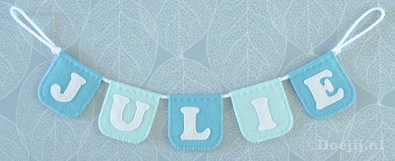 Naamslinger mini voor Julie