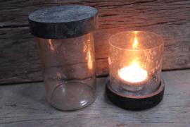 windlicht / pot steenslag groot