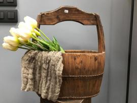 houten ovale emmer