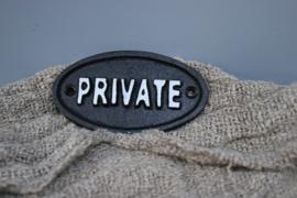 deurplaatje private