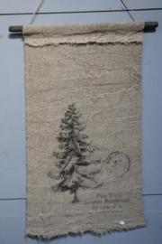 wanddoek kerstboom