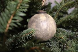 grote kerstbal rustiek goud mat
