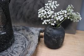 oud houten potje grey/black