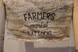 shabby doek eat local 30x45