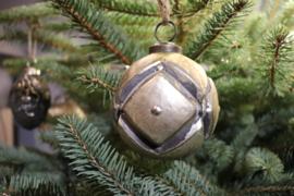 Kerstbal goud, sober medium