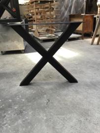 onderstel X-vorm, mat zwart