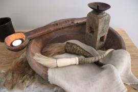 grote, oude houten lepel