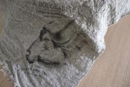 shabby doek buffel 45x45