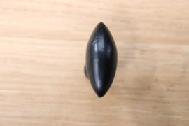 zwarte deurknop olijfvormig