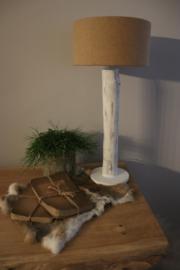tafellamp boomstam wit