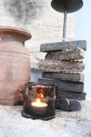 kandelaar met oude batik stempels