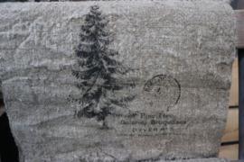 Kerst Shabby doek kerstboom