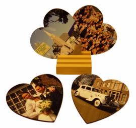 Setje van 4 onderzetters hart