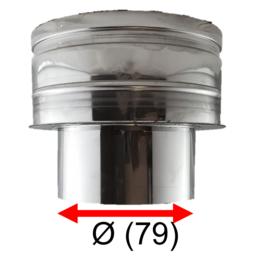 Onderaansluitstuk DW  Ø150/200 - EW 80 (79mm)  RVS