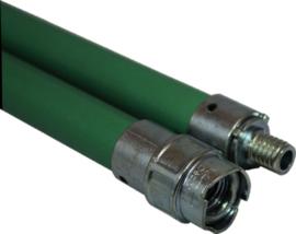 Flexibele veegstok met schroefdraad professioneel groen 100cm