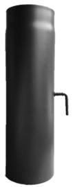 Rookkanaal EW Ø150 mm, lengte 50 cm 2 mm staal met smoorklep