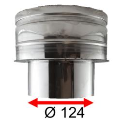 Onderaansluitstuk DW Ø150/200 - EW 125 (124mm)  RVS