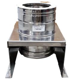 Rookkanaal DW  Ø 150 mm, Stoelconstructie incl. wandbeugels 29 tot 61cm verstelbaar