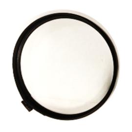 Enkelwandig Rookkanaal Ø150 mm, Klemband om rozet vast te zetten, 0.6 mm staal Zwart antraciet