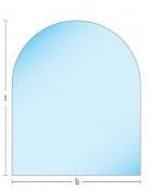 Vloerplaat glas 6mm Halfrond 70x90cm