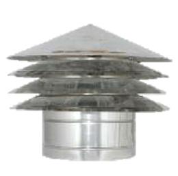 Louver valwindtrekkap Ø150 mm EW rookkanaal