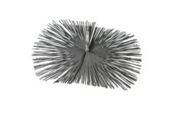 Staalborstel rechthoek 25 x 40cm voor gemetselde schoorstenen
