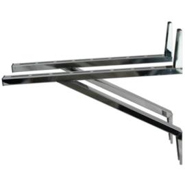 Wandbeugel de Luxe RVS zware uitv. L=93.5cm t.b.v. stoelconstructie T-stuk Rookkanaal