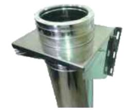 Rookkanaal DW  Ø 150 mm, Stoelconstructie element incl. verstelbare muurbeugels t.b.v. T-Stuk RVS