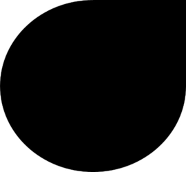 Vloerplaat Staal Zwart 2mm Druppel 100x100cm