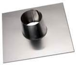 Plakplaat 0-5 graden tbv Dubbelwandig rookkanaal Ø125-175 mm