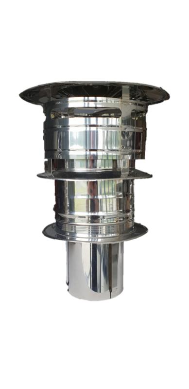 Universele trekkap Ø250 mm DW rookkanaal
