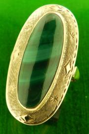Gouden ring met edelsteen