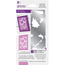 Gemini Decoratieve Outline Clearstamps & snijmal - Dancing Butterflies