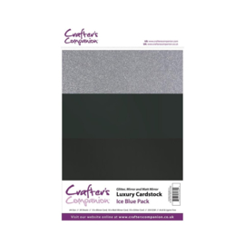Crafter's Companion Luxury Cardstock Ice Blue Pack A4