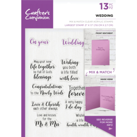 Crafter's Companion Sentiment & Verses Clearstamps - Wedding