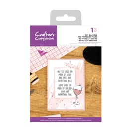 Crafter's Companion Clear stempel - Not All Girls