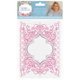 Sara Signature Collection Sew Homemade - Cut & Emboss Folder - Decorative Lattice Frame