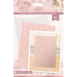 "Rose Gold 5""x7"" Embossing Folder - Confetti Burst"