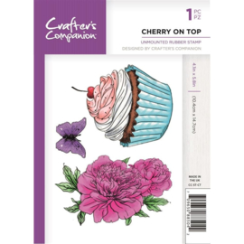 Crafter's Companion A6 unmounted rubberen stempel - Cherry on top