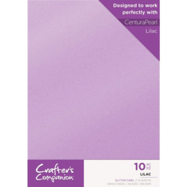 Crafter's Companion Glitter karton A4 a 10 vel - Lila