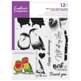 Crafter's Companion Layered clearstamp - Birds of Love