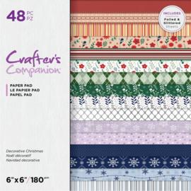 "Crafter's Companion 6""x6"" (15x15 cm) paperpad -Decoratieve Kerst"