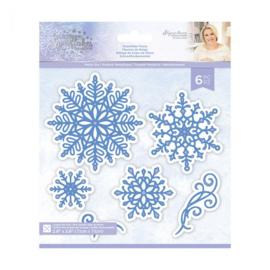 Glittering Snowflakes Metalen snijmal - Snowflake Flurry